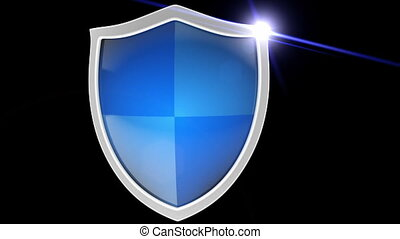 Shield - Useful for foreground, before securable object. On...