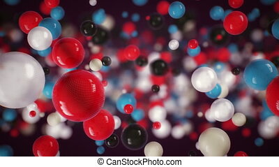 Glossy balls background - Colorful glossy balls. Background...