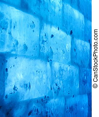 Blue wall of ice
