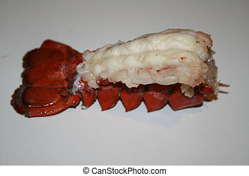 Lobster Tail - A lobster tail. The meat is the focus point.