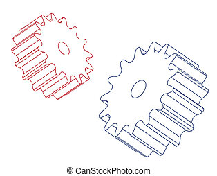Two spur gears