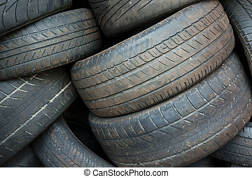 Old Tires - Pile of old worn out tires