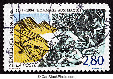 Postage stamp France 1994 Resistance of the Maquis - FRANCE...