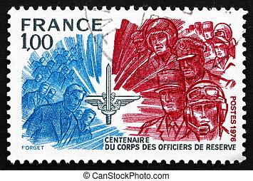 Postage stamp France 1976 Officers Reserve Corps - FRANCE -...