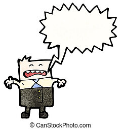 cartoon stressed manager shouting