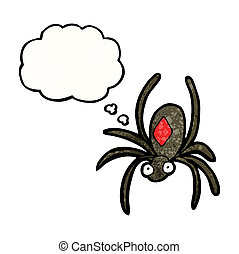 cartoon deadly spider