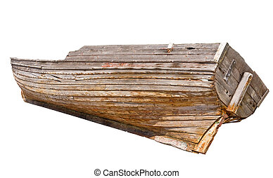 Old wooden rowboat - the Old traditional wooden rowboat