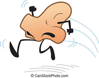 Runny Nose - Joke Cartoon of Running Nose
