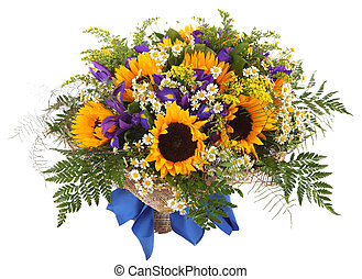 Floral arrangement of sunflowers. - Flower Arrangement of...