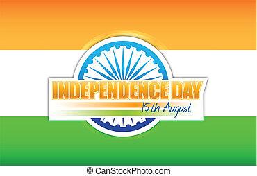 indian flag. independence day design illustration