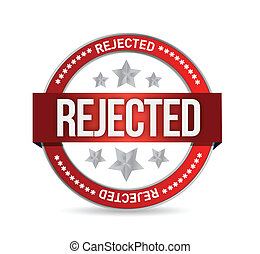 reject seal stamp illustration over a white background