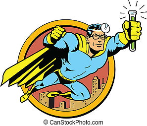 Retro Classic Super Doctor - Retro Classic Superhero Doctor...