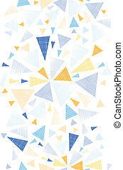 Colorful textured arrows triangles vertical seamless pattern...