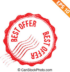 Grunge best offer rubber stamp - Vector illustration - EPS10...