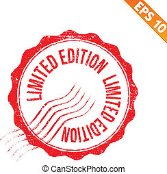 Grunge limited edition rubber stamp - Vector illustration -...