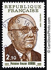 Postage stamp France 1984 Vincent Auriol, French President
