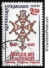 Postage stamp France 1985 Huguenot Cross - FRANCE - CIRCA...