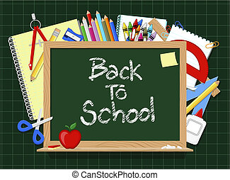 blackboard school supplies - blackboard and school education...