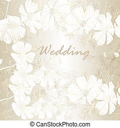 Elegant wedding background with flowers for design - Vector...