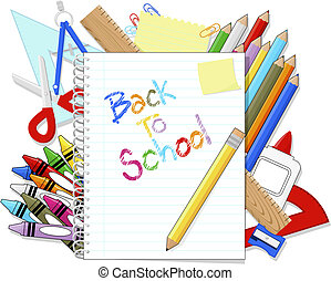 back to school supplies items - school education supplies...