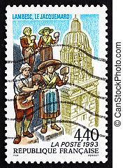 Postage stamp France 1993 Bellringer Statues of Lambesc -...