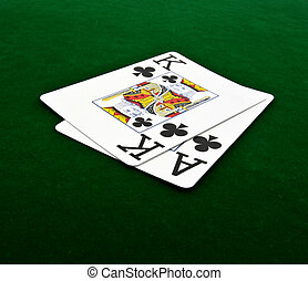 blackjack on green felt