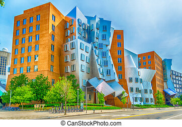 Iconic Postmodern Architecture of MIT Strata Center,...