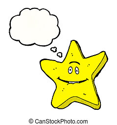 cartoon star with speech bubble