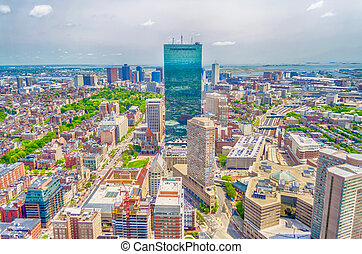 Aerial View of Central Boston, USA - Aerial View of Central...
