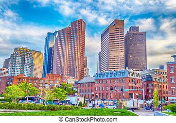 Boston Skyscrapers - Skyscrapers, modern architecture in...