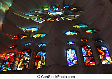 Stained glass windows - Stained glass window in La Salgada...