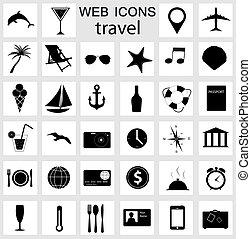 travel icons vector illustration