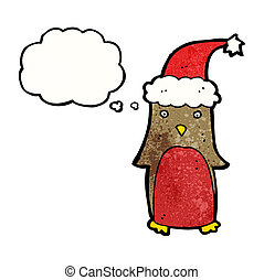 funny christmas robin cartoon