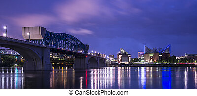 Chattanooga - Downtown Chattanooga, Tennessee from across...