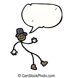 cartoon stick man dancing