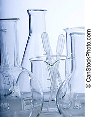 Research lab assorted glassware