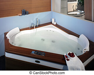Jacuzzi in modern bathroom