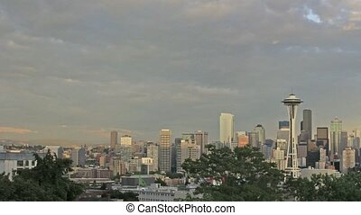 Seattle Washington Cityscape and Mo