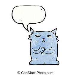 smug cat cartoon