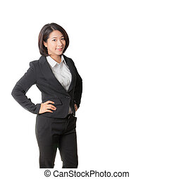 A young attractive business woman