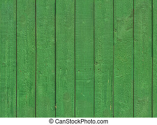Seamless texture of old green paint on wood - Photo of old...