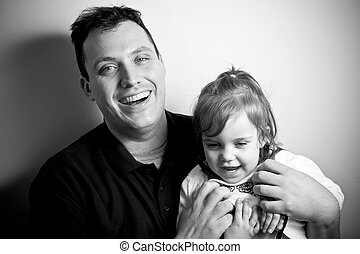 Little Girl with Her Daddy