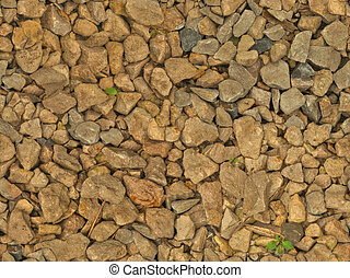 Wet gravel (seamless texture) - This image shows a part of...