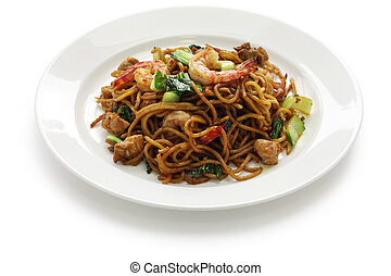 mie goreng, mi goreng - indonesian fried noodles with...