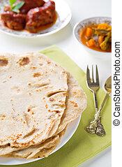 Indian food chapatti