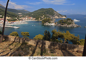 Parga city in Greece - Parga town and port near Syvota in...