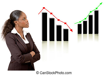 Business woman thinking w - This is an image of a business...