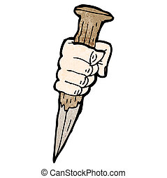 cartoon vampire stake