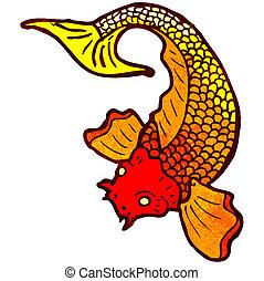 Japanese fish tattoo