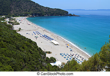 Karavostasi beach in Greece - Karavostasi beach near Syvota...